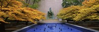 """Fountain in a garden, Fountain Of The Great Lakes, Art Institute Of Chicago, Chicago, Cook County, Illinois, USA by Panoramic Images - 36"""" x 12"""""""