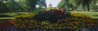 """Flowers in a park, Grant Park, Chicago, Cook County, Illinois, USA by Panoramic Images - 36"""" x 12"""""""