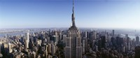 """Aerial view of a cityscape, Empire State Building, Manhattan, New York City, New York State, USA by Panoramic Images - 36"""" x 15"""""""