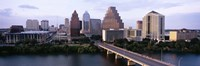 Skylines in a city, Lady Bird Lake, Colorado River, Austin, Travis County, Texas, USA by Panoramic Images - various sizes