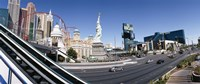 """Buildings in a city, New York New York Hotel, MGM Casino, The Strip, Las Vegas, Clark County, Nevada, USA by Panoramic Images - 36"""" x 12"""""""