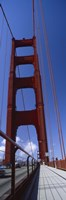 Low angle view of a suspension bridge, Golden Gate Bridge, San Francisco, California, USA by Panoramic Images - various sizes