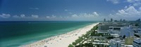 "City at the beachfront, South Beach, Miami Beach, Florida, USA by Panoramic Images - 36"" x 12"""