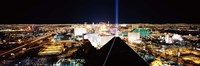 """High angle view of a city from Mandalay Bay Resort and Casino, Las Vegas, Clark County, Nevada, USA by Panoramic Images - 36"""" x 12"""" - $34.99"""