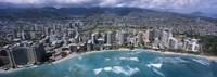 Aerial view of a city, Waikiki Beach, Honolulu, Oahu, Hawaii, USA Fine Art Print