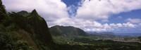Clouds over a mountain, Kaneohe, Oahu, Hawaii, USA Fine Art Print