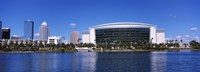 "Buildings at the waterfront, St. Pete Times Forum, Tampa, Florida, USA by Panoramic Images - 36"" x 12"""