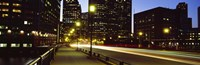 """Traffic on a bridge in a city, Northern Avenue Bridge, Boston, Suffolk County, Massachusetts, USA by Panoramic Images - 36"""" x 12"""""""