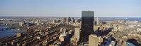 """Aerial View of Boston, Massachusetts by Panoramic Images - 36"""" x 12"""", FulcrumGallery.com brand"""