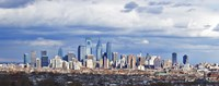 """Aerial View of Center City, Philadelphia by Panoramic Images - 36"""" x 12"""", FulcrumGallery.com brand"""
