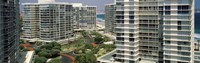 """Condos in a city, San Diego, California, USA by Panoramic Images - 36"""" x 12"""""""