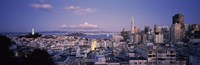 """High angle view of a cityscape from Nob Hill, San Francisco, California by Panoramic Images - 36"""" x 12"""", FulcrumGallery.com brand"""