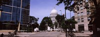"""Government building in a city, Wisconsin State Capitol, Madison, Wisconsin, USA by Panoramic Images - 36"""" x 12"""" - $34.99"""