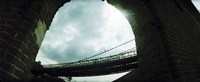 Low angle view of a bridge, Brooklyn Bridge, Brooklyn, New York City, New York State, USA Fine Art Print