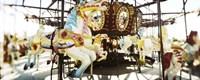 Close-up of carousel horses, Coney Island, Brooklyn, New York City, New York State, USA Fine Art Print