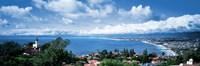 "City at the coast, Palos Verdes Peninsula, Palos Verdes, Los Angeles County, California, USA by Panoramic Images - 36"" x 12"""