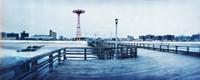 City in winter, Coney Island, Brooklyn, New York City, New York State, USA Fine Art Print