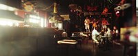 People in a restaurant, Cha Cha Lounge, Coney Island, Brooklyn, New York City, New York State, USA Fine Art Print