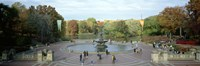 """Tourists in a park, Bethesda Fountain, Central Park, Manhattan, New York City, New York State, USA by Panoramic Images - 36"""" x 12"""""""