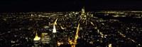 Night view of New York City, New York State, USA Fine Art Print