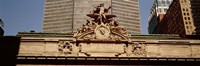 """High section view of a railroad station, Grand Central Station, Manhattan, New York City, New York State, USA by Panoramic Images - 36"""" x 12"""""""