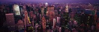 """Manhattan at dusk, New York City, New York State by Panoramic Images - 36"""" x 12"""", FulcrumGallery.com brand"""