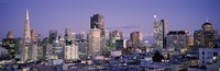 """High angle view of San Francisco at dusk, California by Panoramic Images - 36"""" x 12"""""""