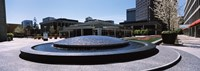 """Plaza De Cesar Chavez Fountain, Downtown San Jose by Panoramic Images - 36"""" x 12"""", FulcrumGallery.com brand"""