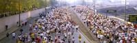 Crowd running in a marathon, Chicago Marathon, Chicago, Illinois, USA Fine Art Print