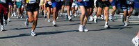"""Low section view of people running in a marathon, Chicago Marathon, Chicago, Illinois by Panoramic Images - 36"""" x 12"""""""