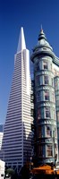 """Low angle view of towers, Columbus Tower, Transamerica Pyramid, San Francisco, California, USA by Panoramic Images - 12"""" x 36"""""""