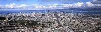 """San Francisco as Viewed from Twin Peaks by Panoramic Images - 36"""" x 12"""""""