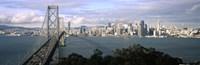 "San Francisco skyline with Bay Bridge, California, USA by Panoramic Images - 36"" x 12"""
