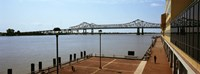 """Bridge across a river, Crescent City Connection Bridge, Mississippi River, New Orleans, Louisiana, USA by Panoramic Images - 36"""" x 12"""""""