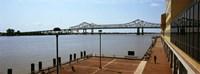 Bridge across a river, Crescent City Connection Bridge, Mississippi River, New Orleans, Louisiana, USA Fine Art Print
