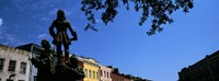"""Statues in front of buildings, French Market, French Quarter, New Orleans, Louisiana, USA by Panoramic Images - 36"""" x 12"""""""