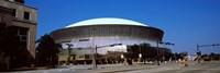 """Low angle view of a stadium, Louisiana Superdome, New Orleans, Louisiana, USA by Panoramic Images - 36"""" x 12"""", FulcrumGallery.com brand"""