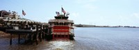 Paddleboat Natchez in a river, Mississippi River, New Orleans, Louisiana, USA Fine Art Print