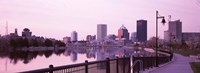 """Buildings at the waterfront, Genesee, Rochester, Monroe County, New York State by Panoramic Images - 36"""" x 12"""" - $34.99"""