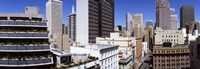 """Skyscrapers in a city viewed from Union Square towards Financial District, San Francisco, California, USA by Panoramic Images - 36"""" x 12"""", FulcrumGallery.com brand"""
