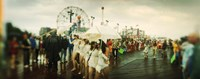 People celebrating in Coney Island Mermaid Parade, Coney Island, Brooklyn, New York City, New York State, USA Fine Art Print