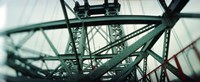 """Low angle view of a suspension bridge, Williamsburg Bridge, New York City, New York State, USA by Panoramic Images - 36"""" x 12"""""""