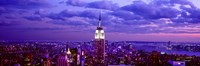 """Empire State Building lit up in white, Midtown Manhattan, New York City by Panoramic Images - 36"""" x 12"""", FulcrumGallery.com brand"""