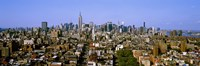 """Aerial view of Manhattan and Empire State building, New York City, New York State, USA by Panoramic Images - 36"""" x 12"""""""