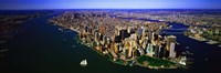 """Aerial view of lower Manhattern, New York City, New York State, USA by Panoramic Images - 36"""" x 12"""""""