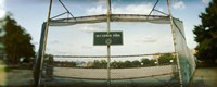 """Chainlink fence in a public park, McCarren Park, Greenpoint, Brooklyn, New York City, New York State, USA by Panoramic Images - 36"""" x 12"""""""