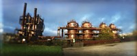 Old oil refinery, Gasworks Park, Seattle, King County, Washington State, USA Fine Art Print