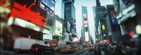 "Buildings lit up at dusk, Times Square, Manhattan, New York City, New York State, USA by Panoramic Images - 36"" x 12"""