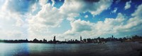 """Manhattan skyline viewed from East River Park, East River, Williamsburg, Brooklyn, New York City, New York State, USA by Panoramic Images - 36"""" x 12"""", FulcrumGallery.com brand"""