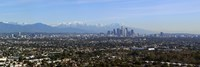 City with mountains in the background, Los Angeles, California, USA 2010 Fine Art Print